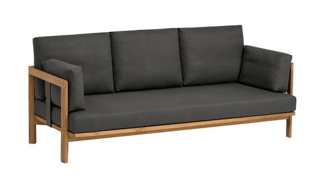 Weishäupl - New Hampton 3-Sitzer Sofa - Dolan sand - Gestell weiß - 1