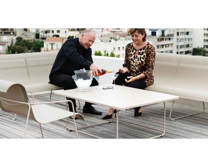 Fermob - ELLIPSE Niedriger Tisch 90 x 110 cm - 01 Baumwolle - 2