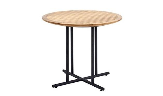 Gloster - Whirl Tisch - Teak - 90 cm - Gestell grau - 1