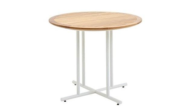 Gloster - Whirl Tisch - Teak - 90 cm - Gestell weiss - 1