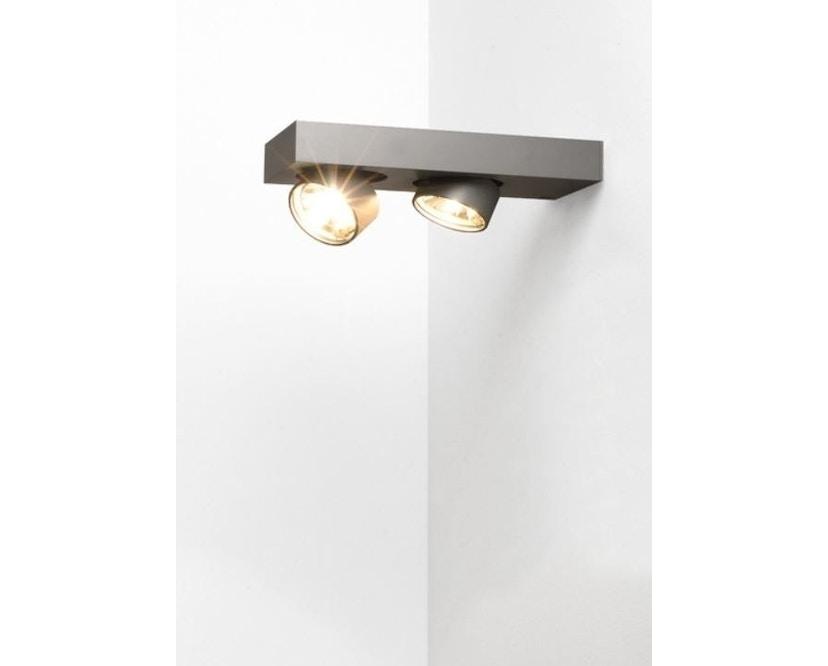 Mawa Design - Alkersum Wandleuchte - schwarz matt mawa 9005 - Halogen - 2 Strahler - 2