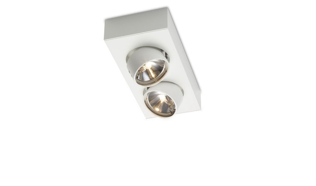 Mawa Design - wi-ab-125-2e Aufbaustrahler - Halogen - weiß matt RAL 9016 - 0