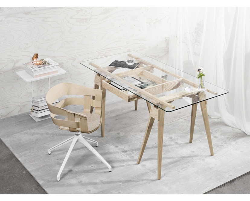 Design House Stockholm - Wick Chair - Eiche - Drehgestell - 2
