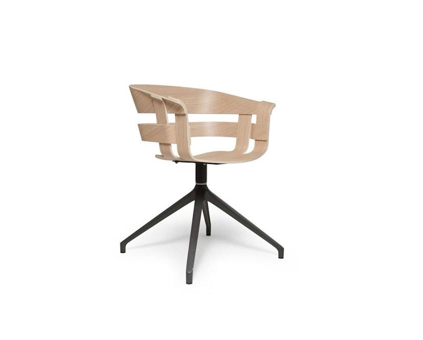 Design House Stockholm - Wick Chair - Eiche - Drehgestell - 1