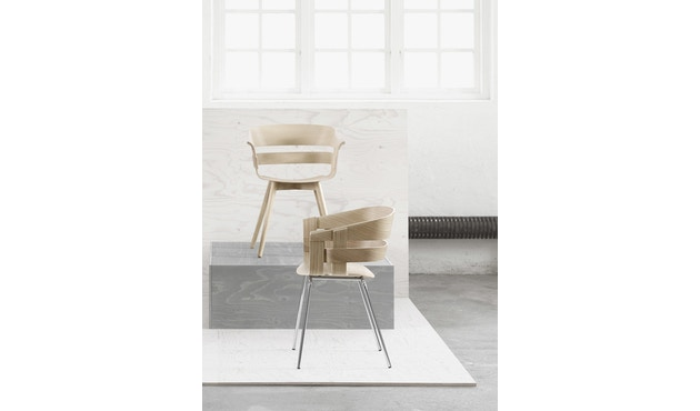 Design House Stockholm - Wick Chair - Eiche - Stahlgestell - 3