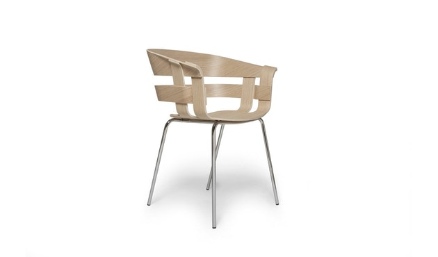 Design House Stockholm - Wick Chair - Eiche - Stahlgestell - 1