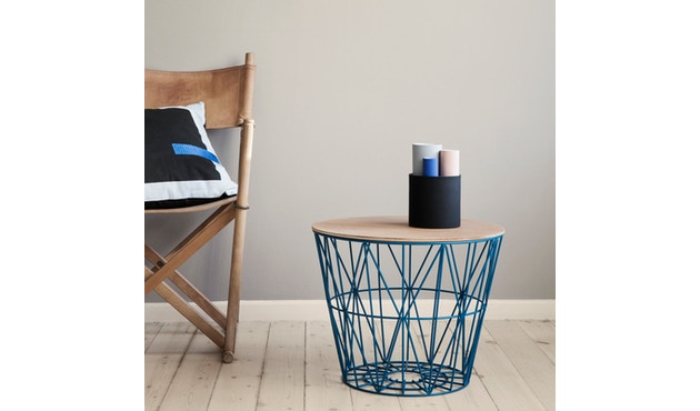 ferm LIVING - Wire Basket Korb - S - schwarz - 5