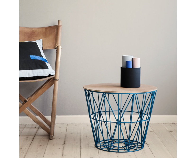 ferm LIVING - Wire Basket mand - zwart - S - 5