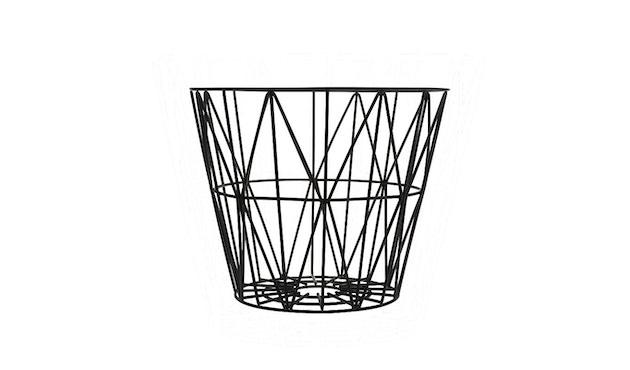 ferm LIVING - Wire Basket mand - zwart - S - 1