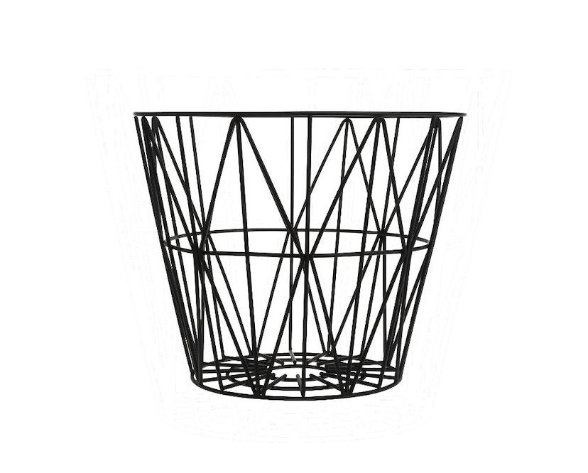 ferm LIVING - Wire Basket Korb - S - schwarz - 1