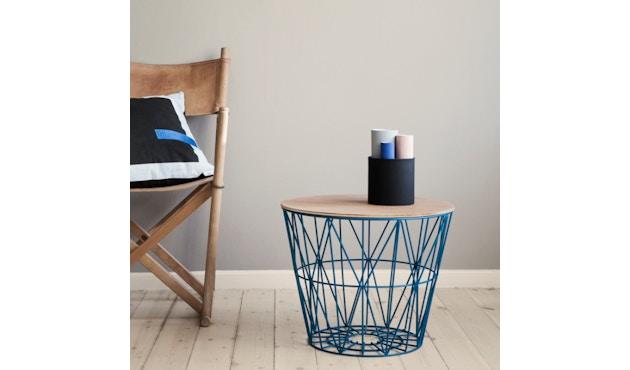 ferm LIVING - Wire Basket Top - Manddeksel - S - gerookte eik - 3