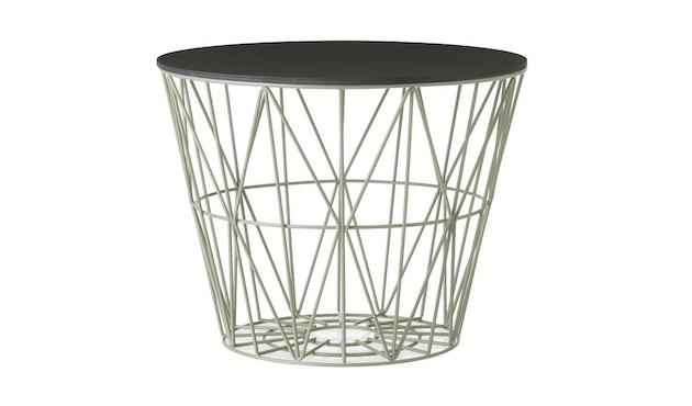 ferm LIVING - Wire Basket Korbdeckel - S - schwarz gebeizte Eiche - 5