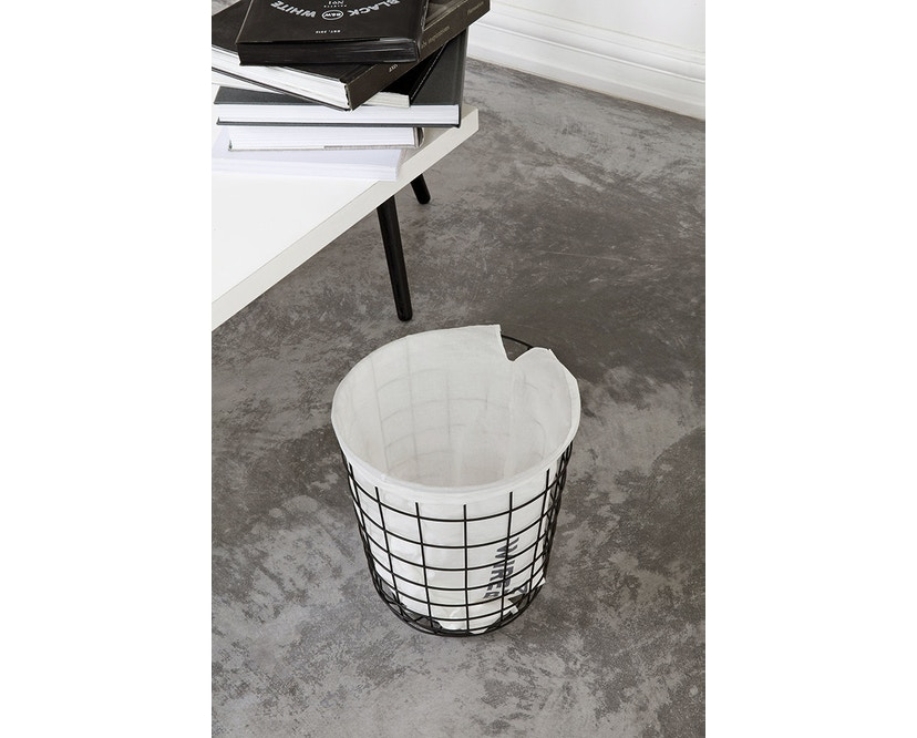 Menu - Wire Bin Papierkorb - schwarz - 5