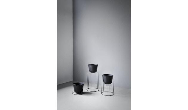 Menu - Wire Pot Blumentopf - schwarz - 6