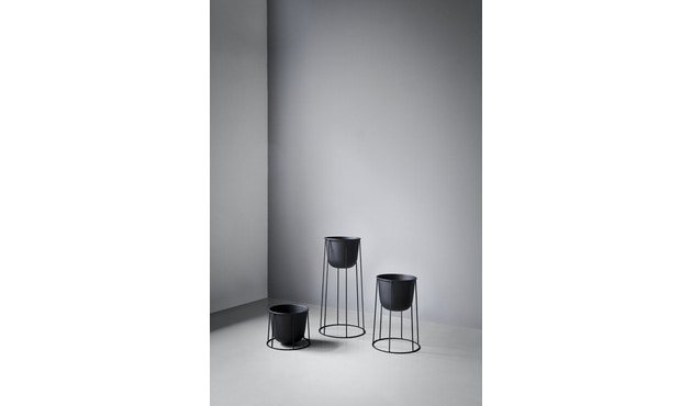 Menu - Wire Pot Blumentopf - weiß - 3