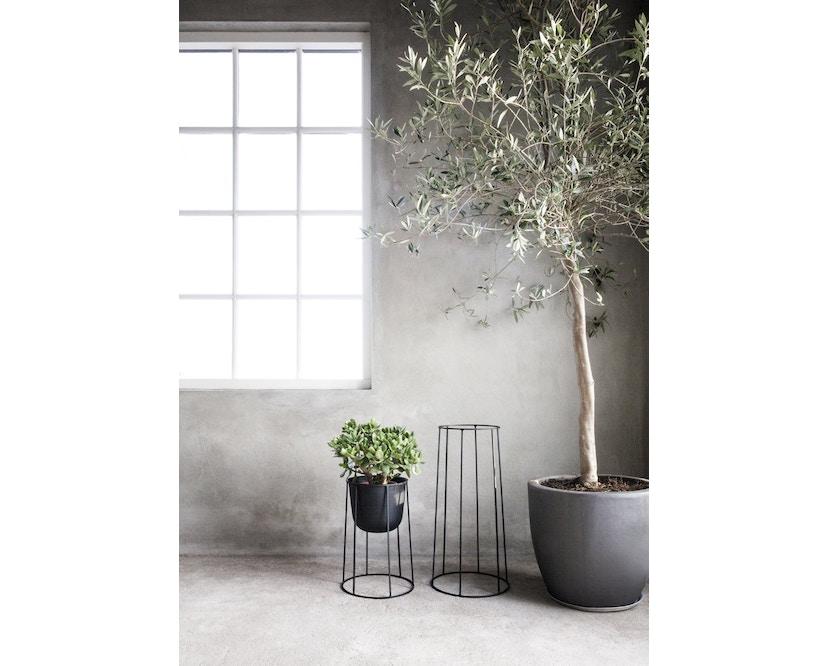 Menu - Wire Pot Blumentopf - weiß - 7