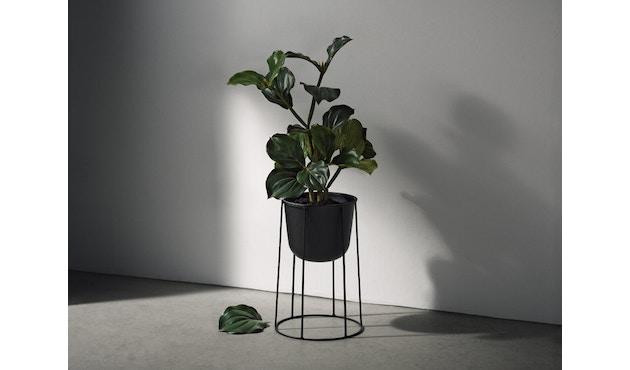 Menu - Wire Pot Blumentopf - weiß - 9