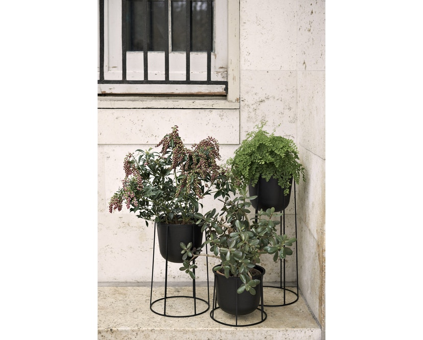 Menu - Wire Pot Blumentopf - weiß - 10