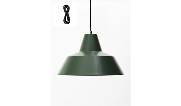 Made By Hand - Workshop 4 Hängeleuchte - racing green - Kabelfarbe schwarz - Baldachin schwarz - 1