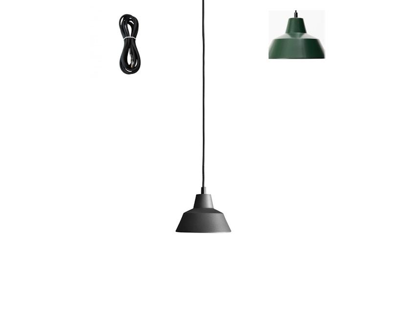 Made By Hand - Workshop 1 Hängeleuchte - racing green - Kabelfarbe schwarz - Baldachin schwarz - 1