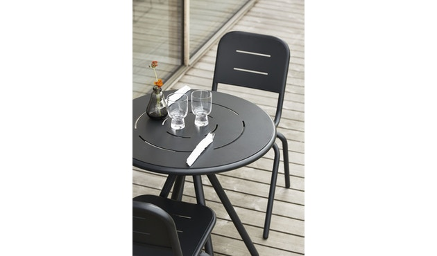 Woud - Ray Round Café Tisch - Charcoal black - 4