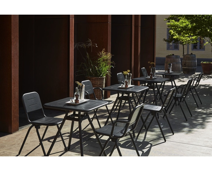 Woud - Ray Square Café Tisch  - Charcoal black - 3