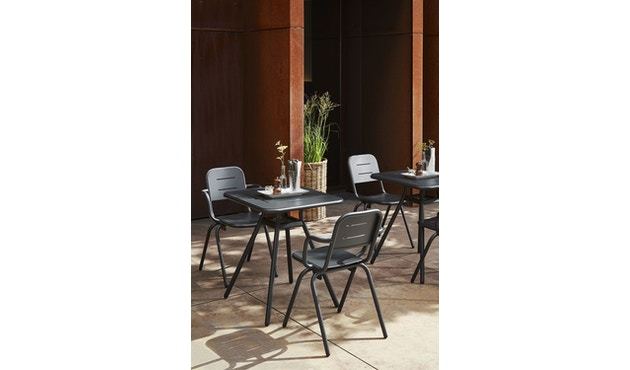 Woud - Ray Square Café Tisch  - Charcoal black - 4