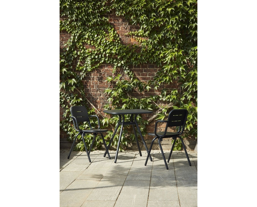 Woud - Ray Square Café Tisch  - Charcoal black - 5