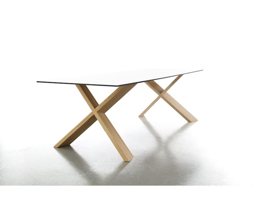 Conmoto - X-MAN Tisch  - HPL - weiß - Eiche - 1