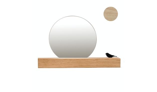 Runder Spiegel mit Vogel