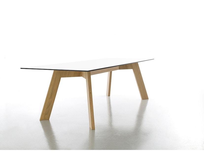 Conmoto - Y-WOMAN Tisch  - HPL - weiß - Eiche - 1