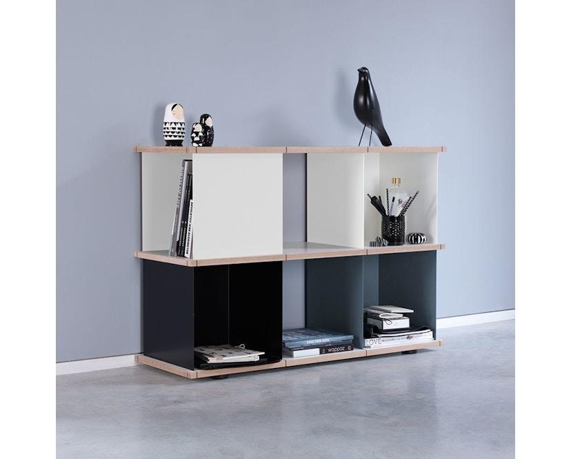 Konstantin Slawinski - YU Regal - 3x2 -  weiß, schwarz, grau - 2