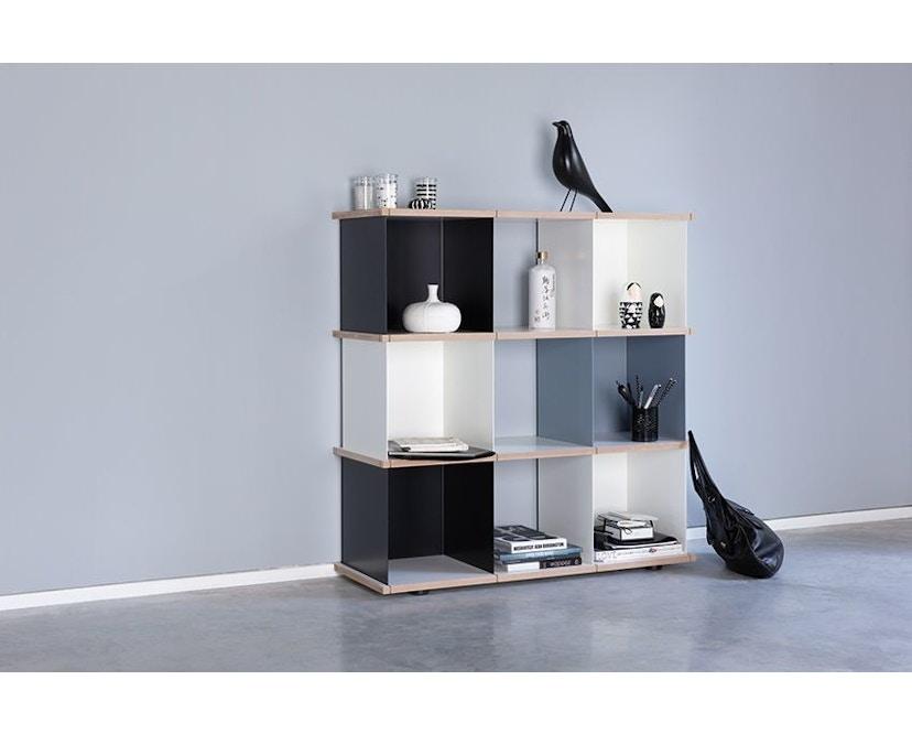 Konstantin Slawinski - YU Regal - 3x3 -  schwarz, weiß, grau - 2